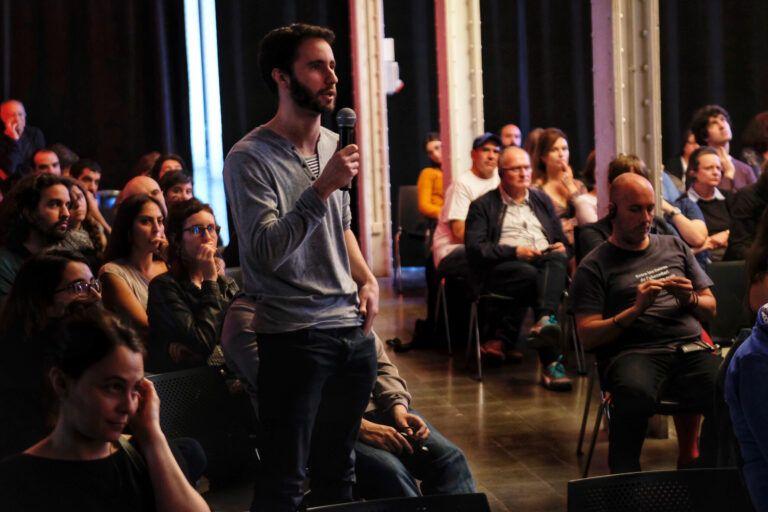 Conferència de Eiríkur Örn Nordahl . Fira Literal 2019. 11 de maig de 2019, Fabra i Coats, Sant Andreu (Barcelona)