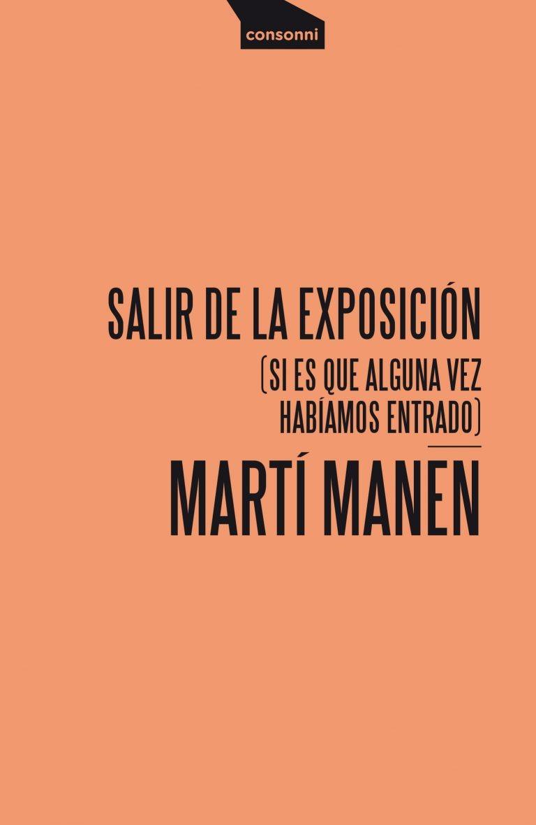 Portada de Salir de la exposición de Martí Manen